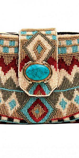Mary Frances Turquoise Power Mini-handbag