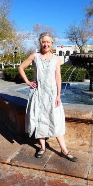 zip dress sea front
